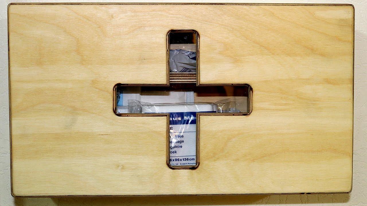 erste hilfe schrank notfallbox f r die werkstatt first aid box for the shop diy youtube. Black Bedroom Furniture Sets. Home Design Ideas
