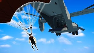 PARACHUTING ONTO A PIRATE SHIP! - Stormworks: Build and Rescue Gameplay Roleplay - Parachute Update