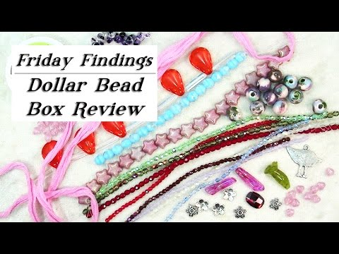Bead Subscription Dollar Bead Box Review-Friday Findings