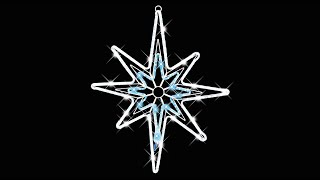 lighting display led rope light star special effects the christmas warehouse