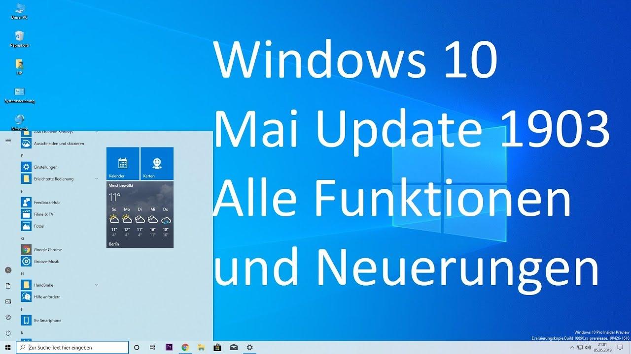 windows 10 1903 neuerungen