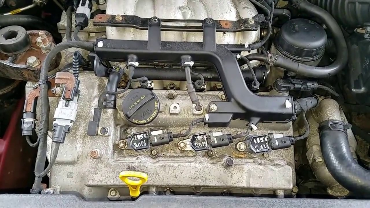 2007 Kia Sedona Spark plugs part 2 (Plenum removal, rear
