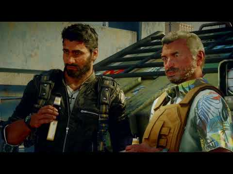 Just Cause 4! 10 GB update! Dog escapes Mid Stream