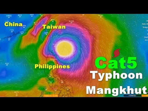 Super Typhoon Mangkhut Strengthens To Cat 5, Targets Taiwan, Philippines And China