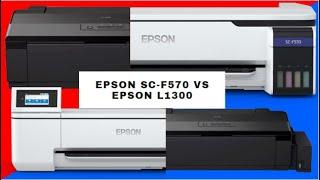 🔴 EPSON SURECOLOR F570 SUBLIMACIÓN VS EPSON L1300 SUBLIMACIÓN - TINTAS EPSON VS TINTAS SUBLITECNO 🔝