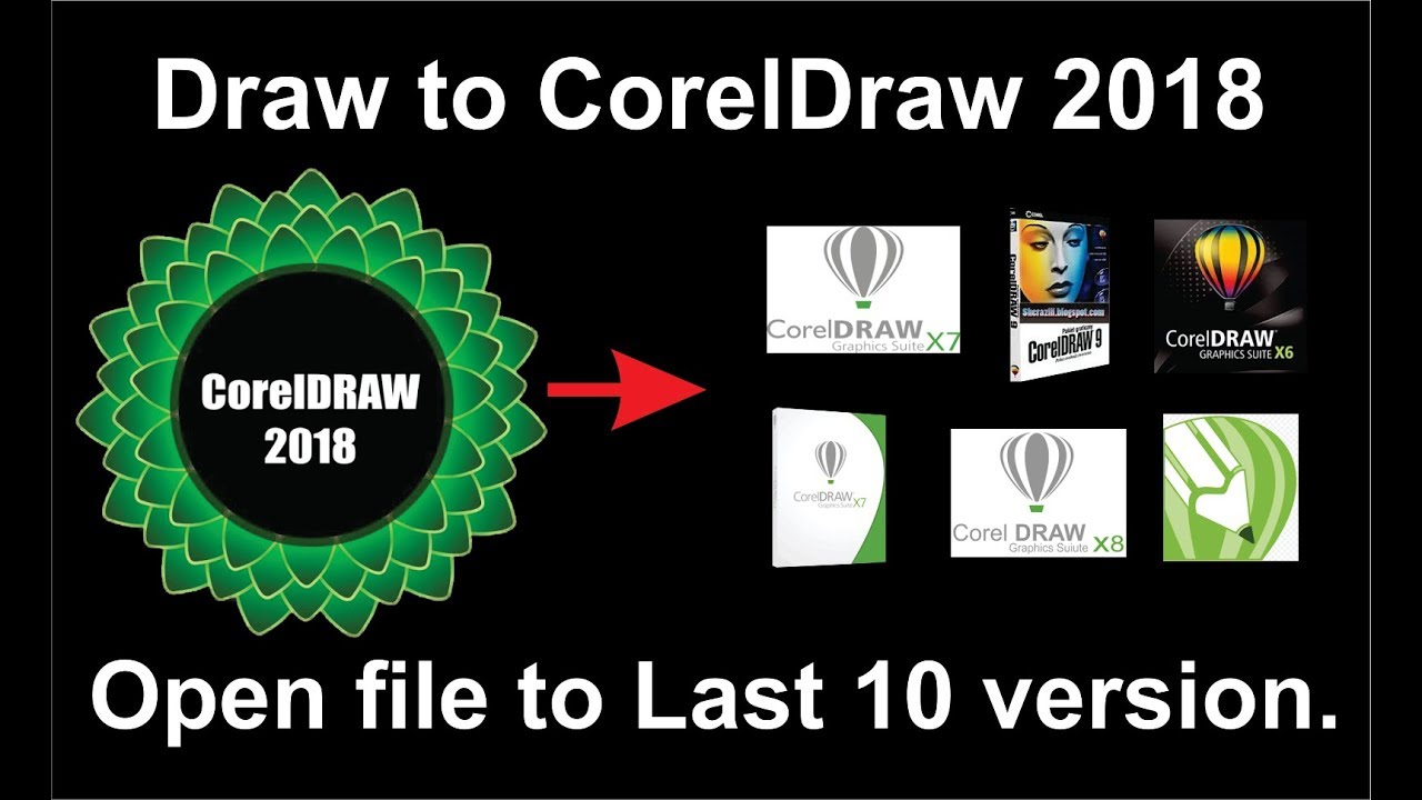 How to open Corel Draw new version file to Corel Draw Old version, Tutorial  by, Amjad G D
