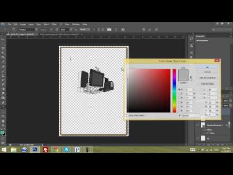 How to create a Poster/Banner/Flyer in Photoshop CS6 | Tutorial | HD