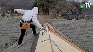 지붕 셀프 공사 인테리어, 아스팔트싱글, 방수시트,  …