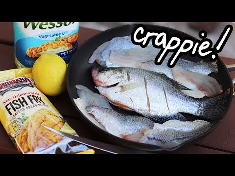 Catch And Cook CRAPPIE!! Fantastic Tasting Freshwater Fish (not Crappy)