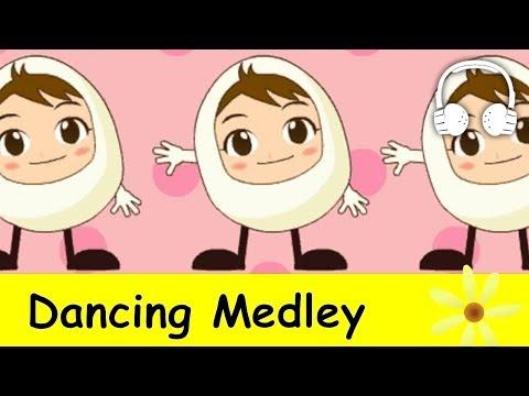 Dancing Medley | Nursery Rhymes Collection | Humpty Dumpty, Skidamarink, Teddy Bear