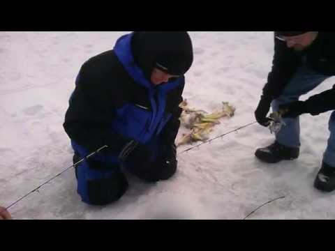Ice Fishing Clear Lake Iowa With Pauls Fishing Guide