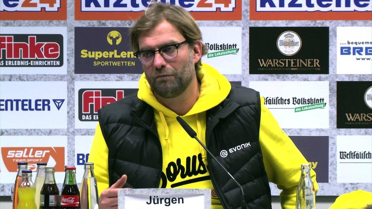 """Jürgen Klopp frustriert: """"Erneut kein guter Tag für uns""""   SC Paderborn 07 - Borussia Dortmund 2:2"""
