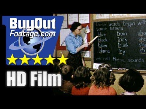 3Rs Plus - 1950s Elementary School Classroom Educational Film
