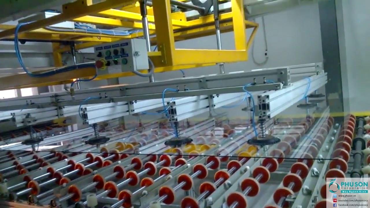 Dây chuyền sản xuất kính dán an toàn MOUTAIN tại nhà máy TIEN CHAU GLASS.