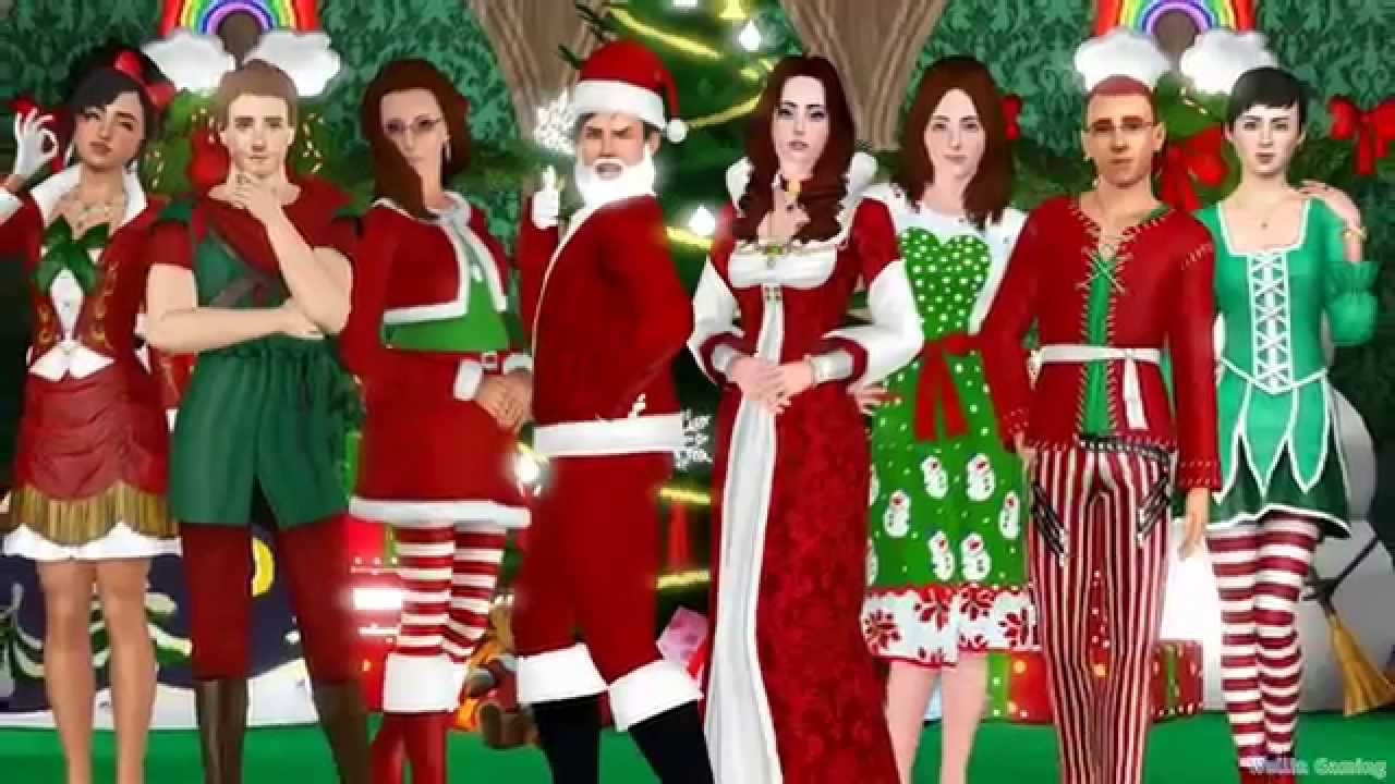 Sims 4 Christmas Poses.Wallin S Let S Celebrate The Sims 3 Holiday Dance Video Part 1 Christmas Medley