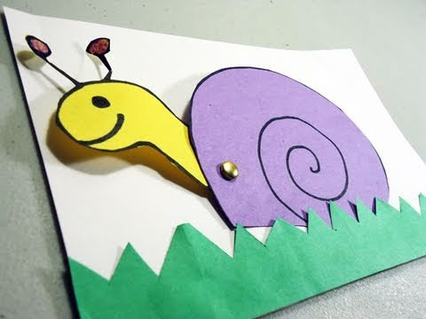 How To Make A Construction Paper Snail Card With Movable