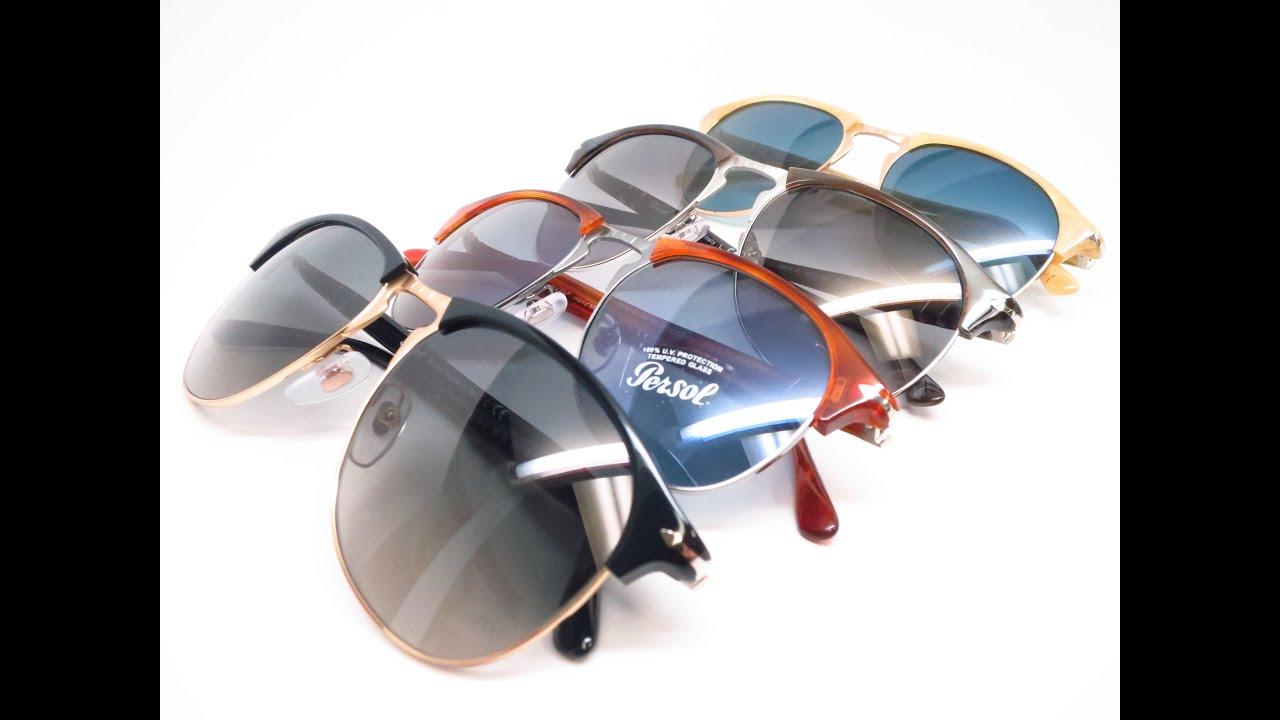 8e55d5a31c Review Persol PO 8649S 1045 M3 95 71 96 56 1046 S3 Sunglasses - YouTube