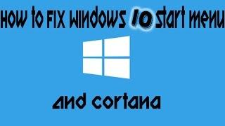 How to fix Windows 10 Start menu
