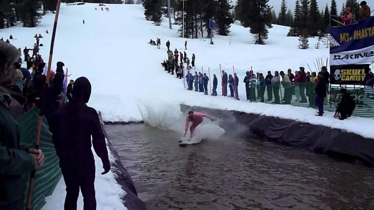 coyote at mt shasta ski park pond skim 4-16-11 music by cast of