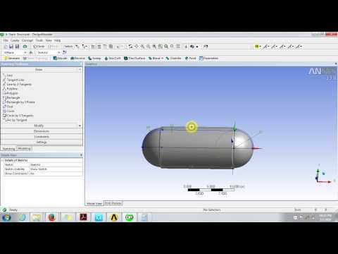 Ansys tutorial:Asymmetric Cylindrical Pressure Vessel Part-1