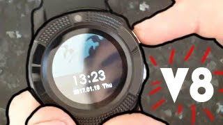 V8 Smartwatch Unboxing and Review