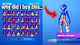 SKINS i REGRET buying in FORTNITE... (Why did i buy these...?)