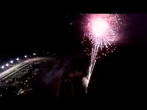 Fireworks Drone's Eye View Lebanon Valley Speedway