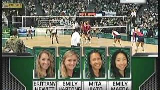 Rainbow Wahine Volleyball 2011 - #10 Hawai'i Vs Arizona (part 1 of 3)