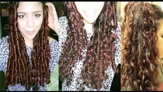 No heat Straw Curls 1 method- Heatless Big Curls to Everday Waves- Long Lasting Curls