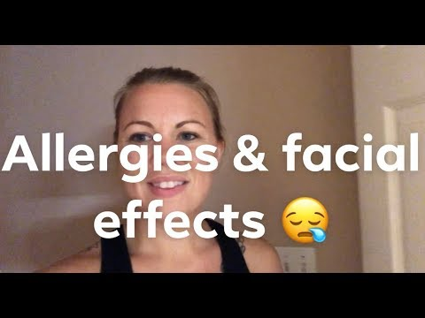 Allergies causing rash bumps on my face