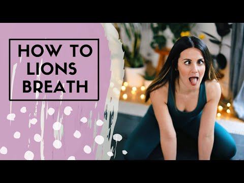 LIONS BREATH TUTORIAL & PRACTISE | 2020 YOGA EVERYDAY | HMFYOGA