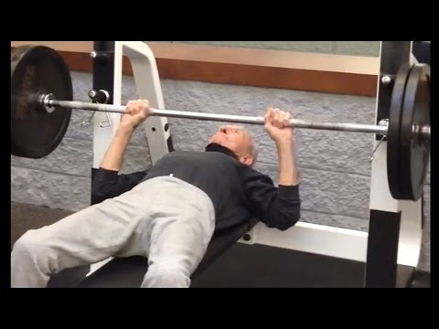 90 Year Old Bodybuilder Working Out