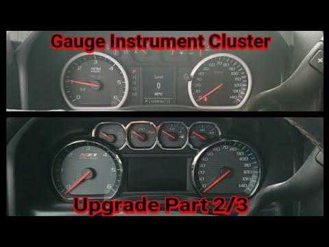 Gauge Instrument Cluster Upgrade Part 2/3 For 2014-2018 Silverado/Sierra