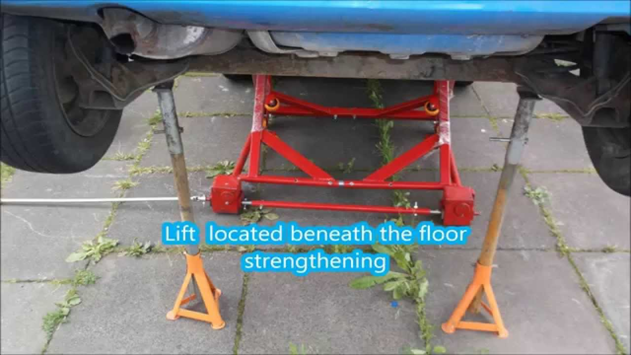 Mobile Car Lift For Lift Small Cars Youtube