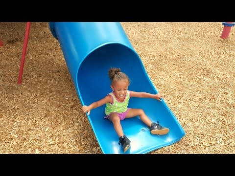 Outdoor Playground Fun For Children / Family Park With Slides / Playground Song