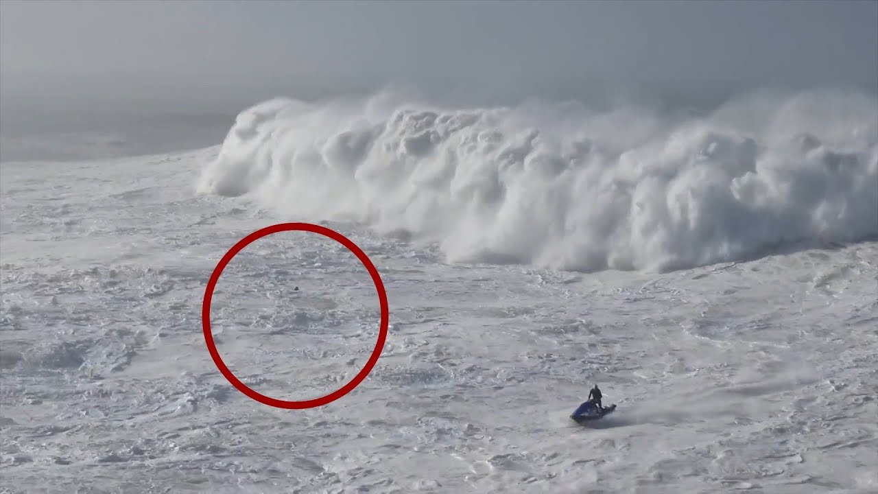 Monsterwellen vor Nazare Surfer in Not