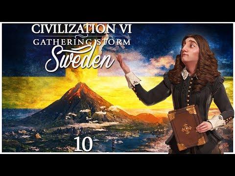 Civilization 6 - Gathering Storm Pre-Release as Sweden - Episode 10 ...More Floods...