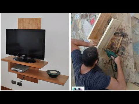 3$ DIY TV stand | Wall mounted tv wall units design