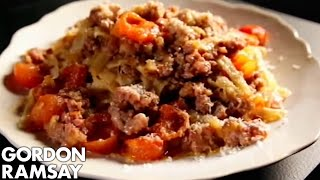 Tagliatelle with Quick Sausage Meat Bolognese - Gordon Ramsay