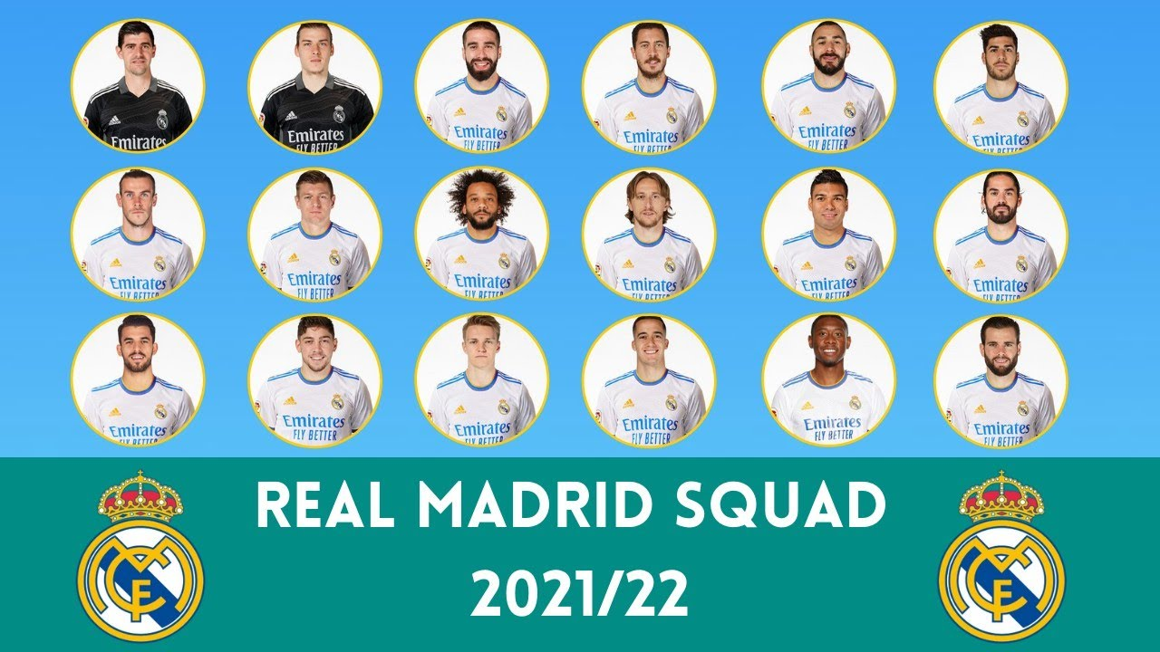 Real Madrid Squad For Season 2021/22 | FootWorld - YouTube
