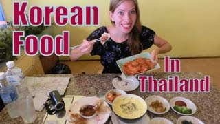 Eating Korean Food in Thailand | Delicious Korean Meal (김치전 & 군만두) at the Korea House in Chiang Mai