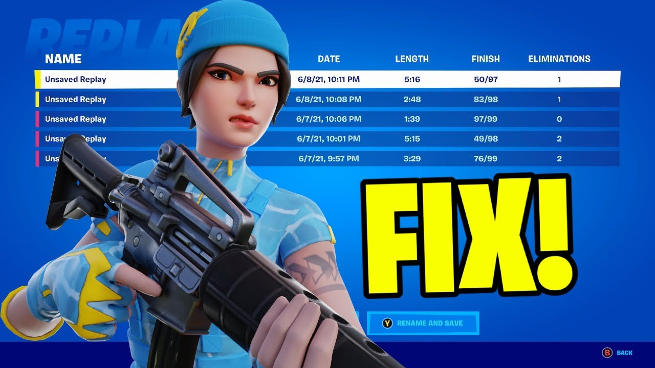 Fortnite Chapter 2 Replay Mode How To Fix Replay Mode In Fortnite Chapter 2 Season 7 Youtube