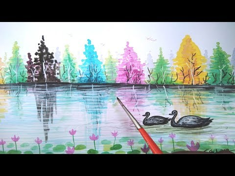 Easy Landscape Painting Demo – For Beginners