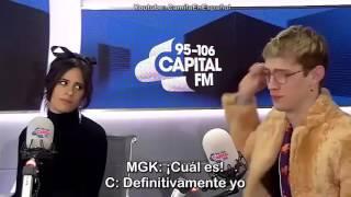 Camila y MGK entrevista en Londres. (En español)