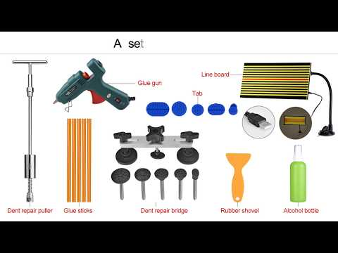 PDR Tools Kit Paintless Dent Repair Tool Set for Car body dent removal tools  (Link in Description)