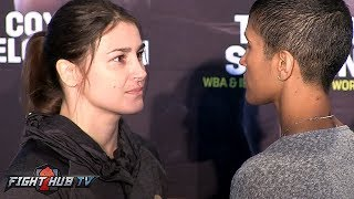 KATIE TAYLOR FACES OFF WITH CINDY SERRANO IN BOSTON