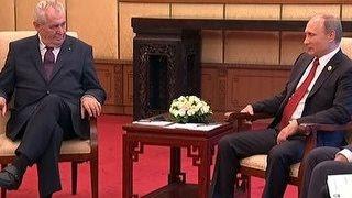 Путин и Земан пообщались без переводчика