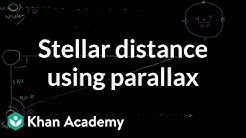 Stellar distance using parallax | Cosmology & Astronomy | Khan Academy