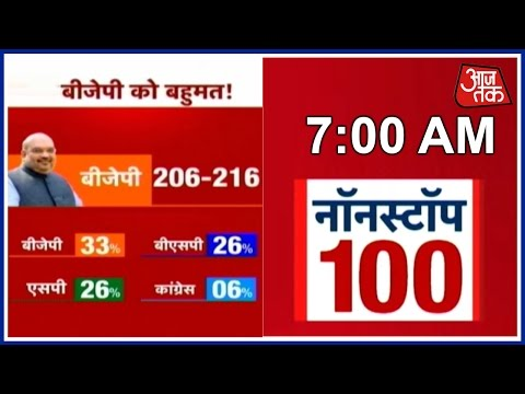Non Stop 100: Opinion Poll Suggests BJP Will Emerge Victorious In UP
