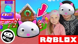 The MOST BEAUTIFUL SLUG in the GAME-[LANGUAGES!] 🎌🦃 BLOB Simulator! | Roblox | Daddy and Barunka CZ/SK